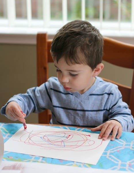 Toddler Art with Oil Pastels
