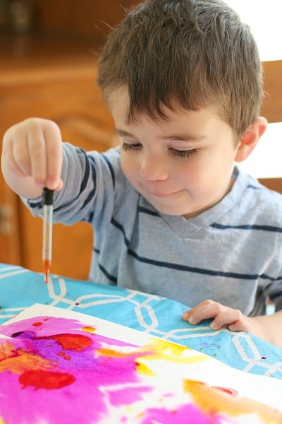 watercolor drip art activity
