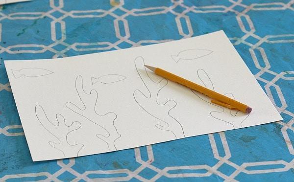 sketching fish and seaweed
