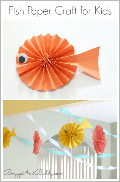 Fish Paper Craft For Kids Use Construction To Make These 3 D