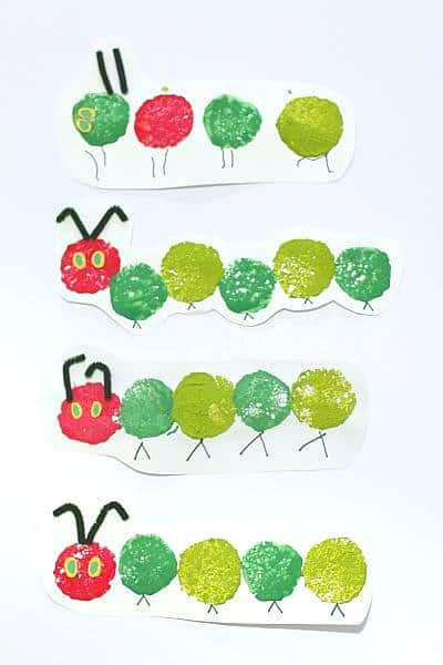 The Very Hungry Caterpillar Sponge Painting Craft for Kids