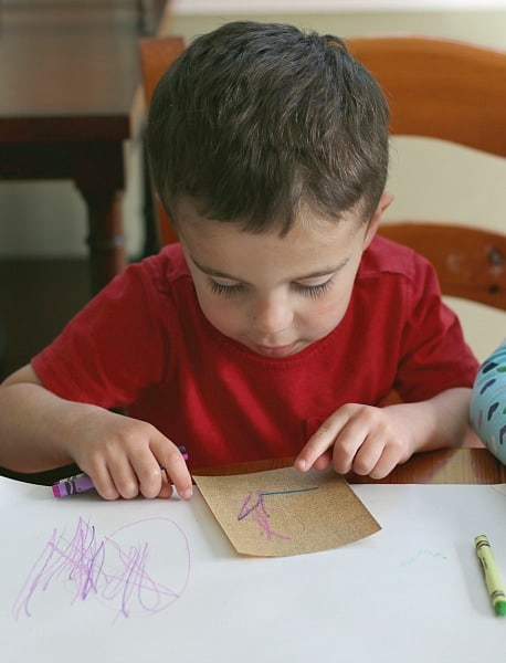 Sensory Art for Toddlers with Sandpaper and Crayons