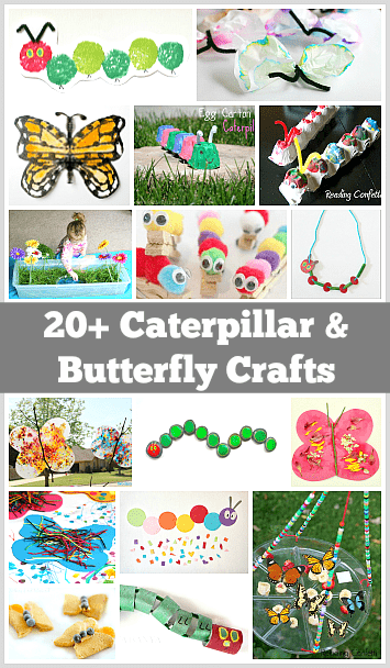 20  caterpillar and butterfly crafts for kids