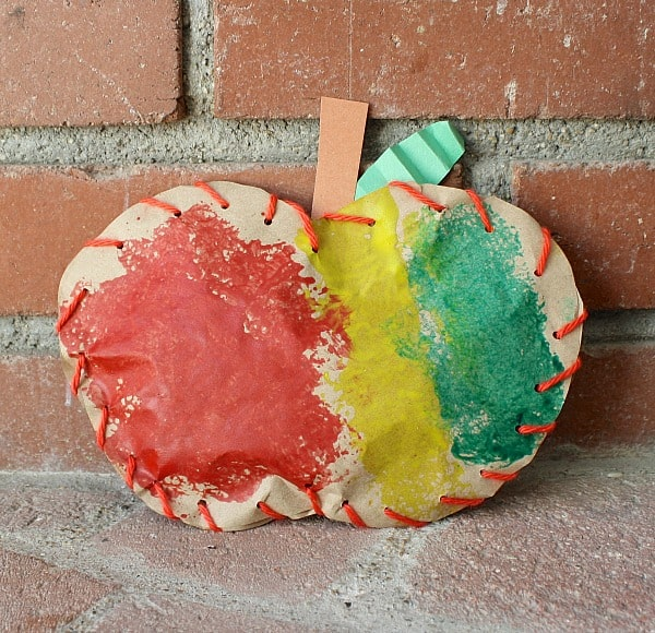 Stuffed Paper Apple Fine Motor Activity