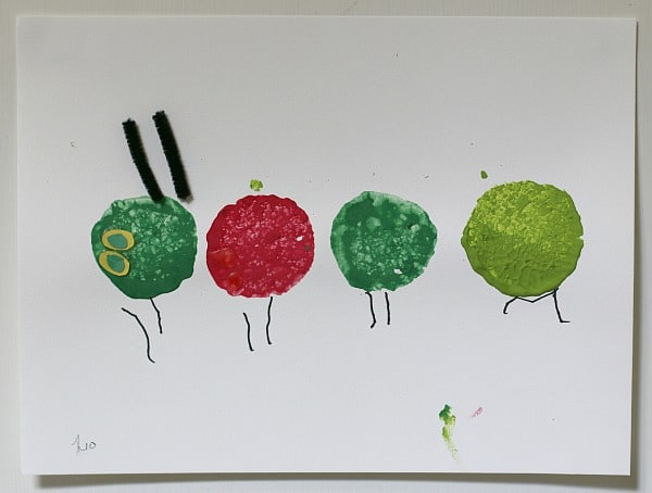 The Very Hungry Caterpillar Sponge Stamping Craft for Kids~ Buggy and Buddy