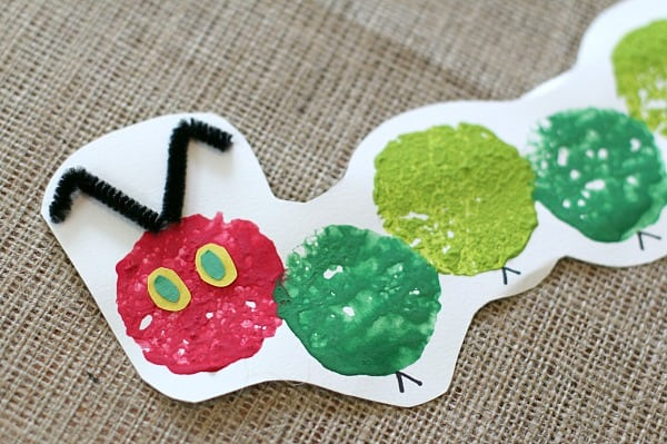 The Very Hungry Caterpillar Craft Using Sponge Painting Buggy And