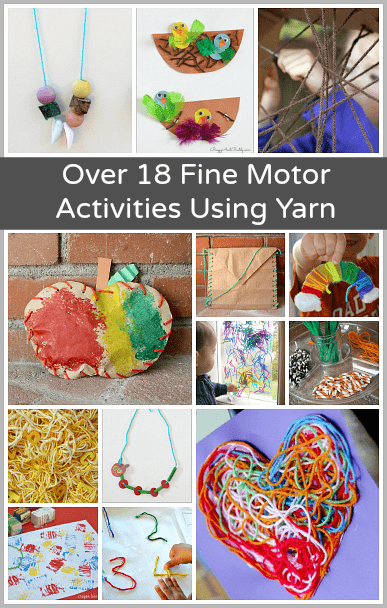 18 Fine Motor Activities For Kids Using Yarn Buggy And