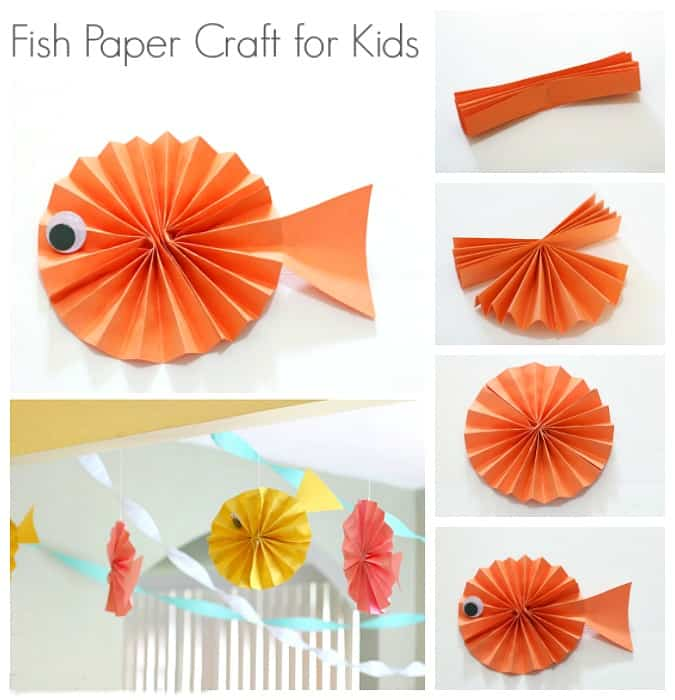 Fish Paper Craft For Kids Buggy And Buddy