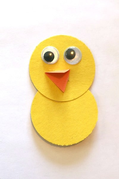 Add Googly Eyes And Beak To Bird Craft For Kids
