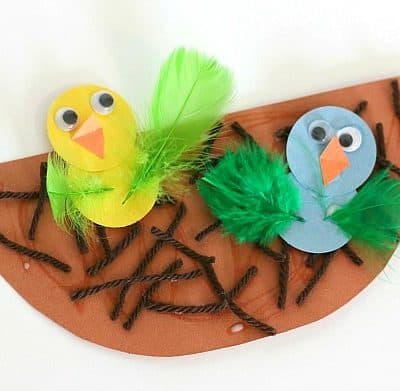 Spring Crafts for Kids: Nest and Baby Bird Craft