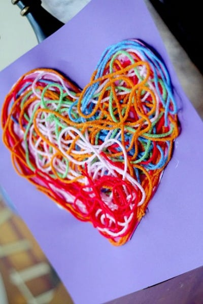 Textured Yarn Heart Craft for Decoration