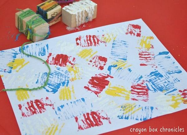 Yarn Line Painting