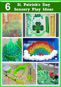 St. Patrick's Day Themed Sensory Play
