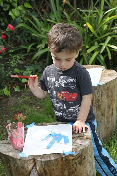 toddler splatter painting