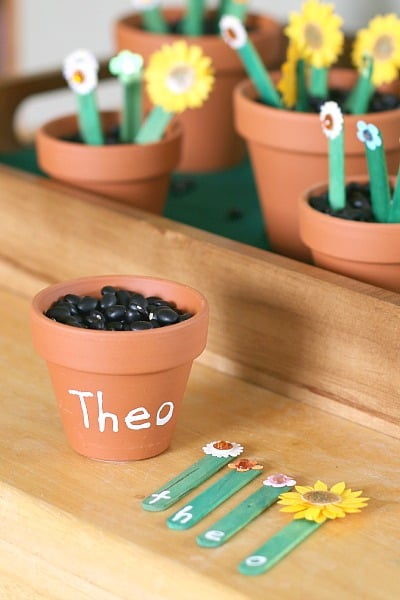 A fun way to teach a child how to spell their name!