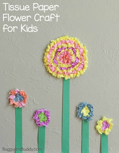 Flower crafts for kids textured tissue paper flowers buggy and buddy spring craft for kids how to make tissue paper flowers buggyandbuddy mightylinksfo
