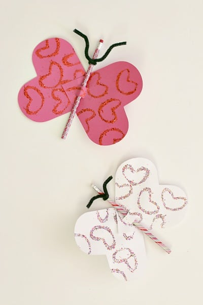 Butterfly Pencil Heart Craft