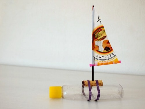 Make a Sailboat Out of a Shampoo Bottle