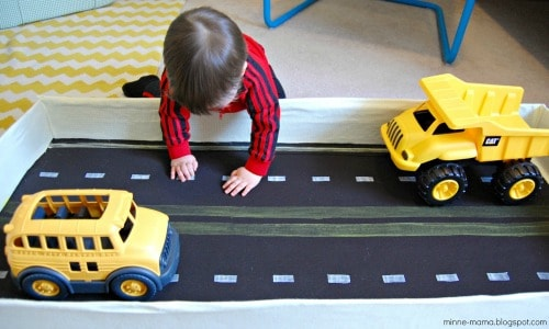 Toy Car Storage and Play Mat