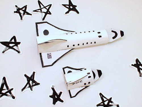 Cardboard Space Shuttle Craft