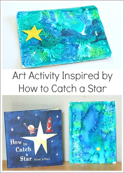 Watercolor art activity for kids inspired by how to catch for Art and craft books for kids