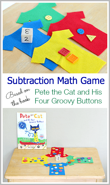 Math Game For Kids Pete The Cat And His Four Groovy