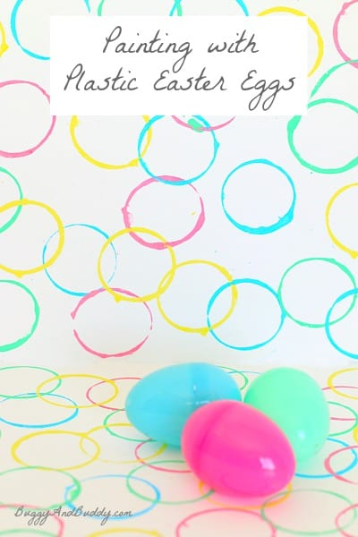 What a fun way to use all those plastic eggs! Painting with Plastic Easter Eggs~ Buggy and Buddy