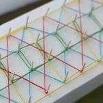 String Art for Kids Using Styrofoam and Toothpicks
