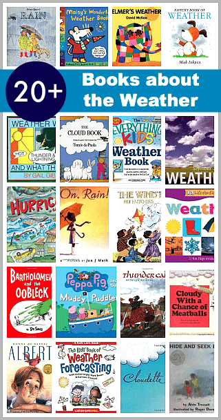 20 Picture Books about the Weather: Fiction and nonfiction Children's books all about the weather! ~ BuggyandBuddy.com