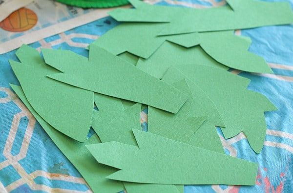 cut out paper leaves