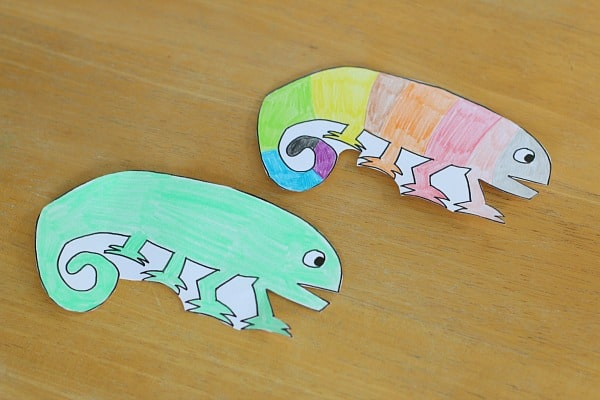 Cut out the The Mixed Up Chameleon