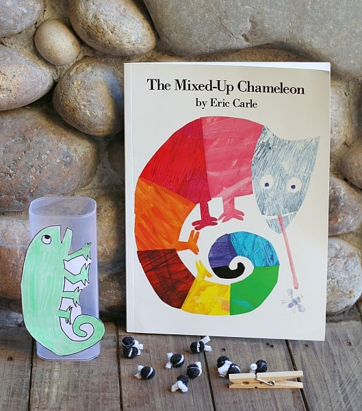 Fine motor amp counting activity for eric carle s the mixed up chameleon