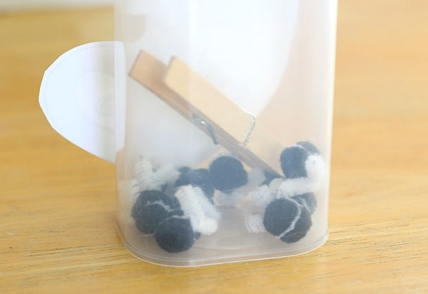 store the pieces for the math game in the container
