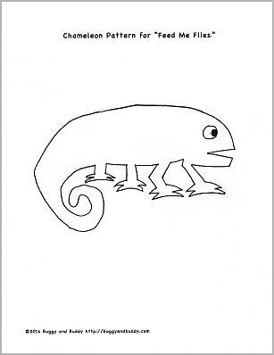 Mixed up chameleon template - photo#5