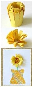 Paper Flower Craft for Kids