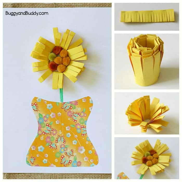 Unique Paper Flower Craft for Kids