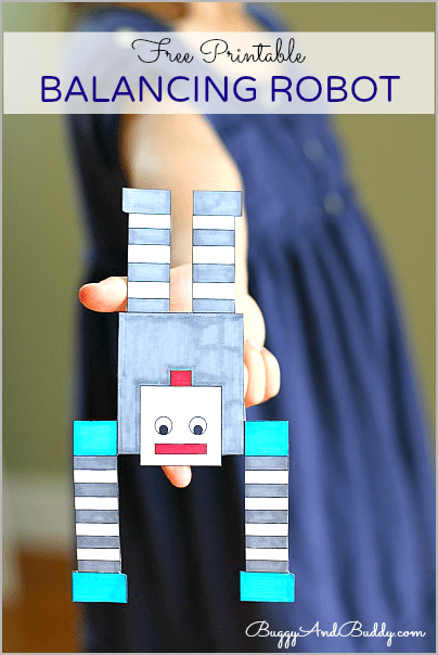 Science for Kids: Make a Balancing Robot! (FREE Printable)~ Buggy and Buddy