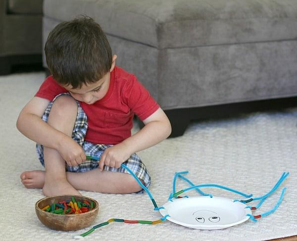 Summer Craft for Kids: Fine Motor Octopus