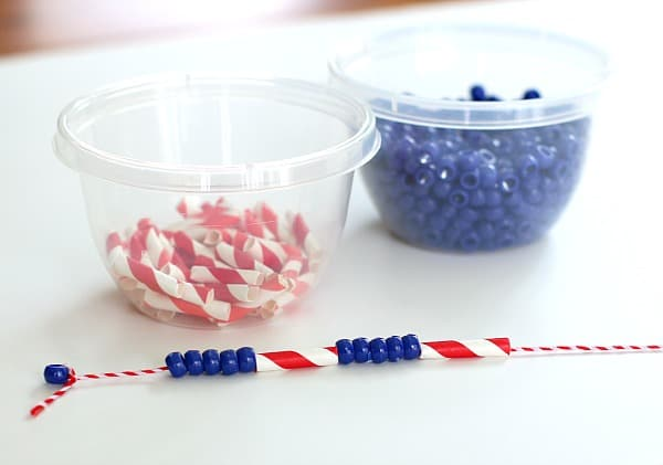 fine motor necklace craft