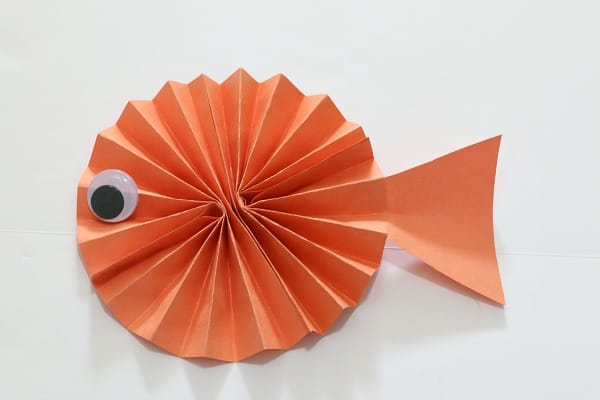 Paper Fish craft for kids