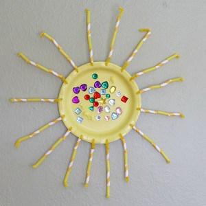 Paper Plate Sun Craft for Preschoolers