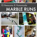 10 {Awesome} Homemade Marble Runs