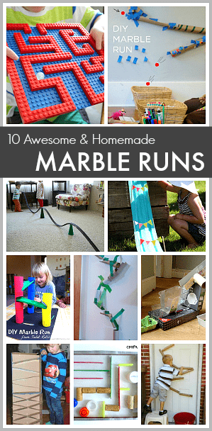 Perfect activity for summer to inspire learning and fun! (10 Super Awesome Homemade Marble Runs)