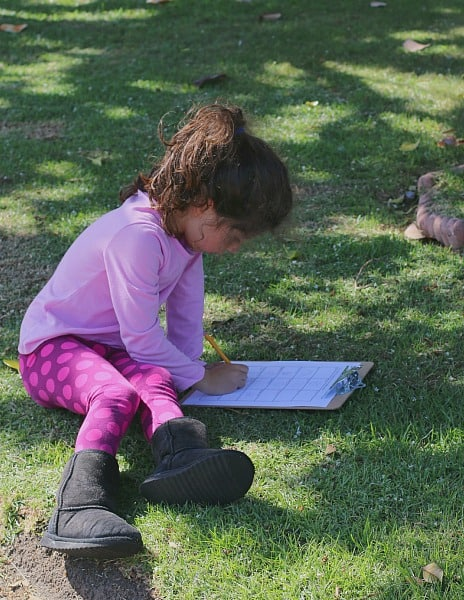 Sketching on an Outdoor Scavenger Hunt