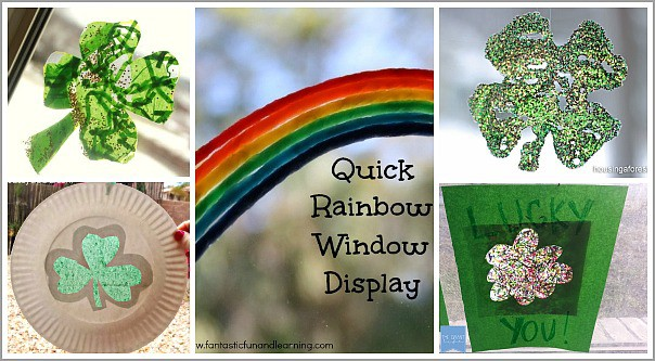 Window Art for St. Patrick's Day
