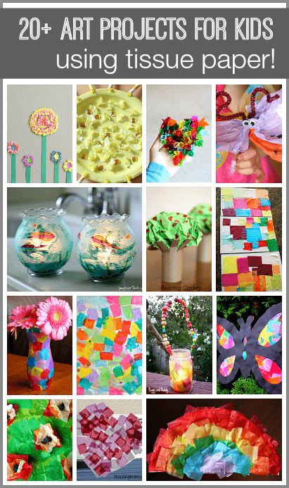 20 tissue paper crafts for kids buggy and buddy for Art and craft using paper