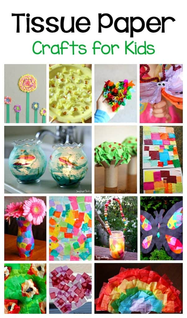 crafts for kids using tissue paper