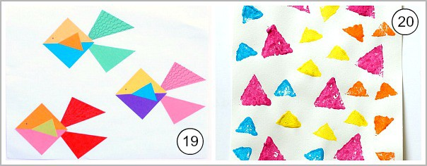 art for kids using triangles