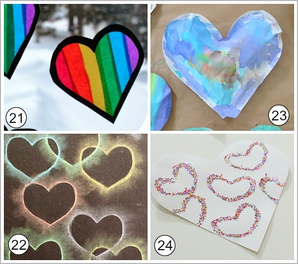 art for kids using hearts