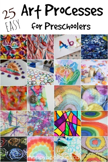 25 Easy Art Processes for Kids from Happy Hooligans